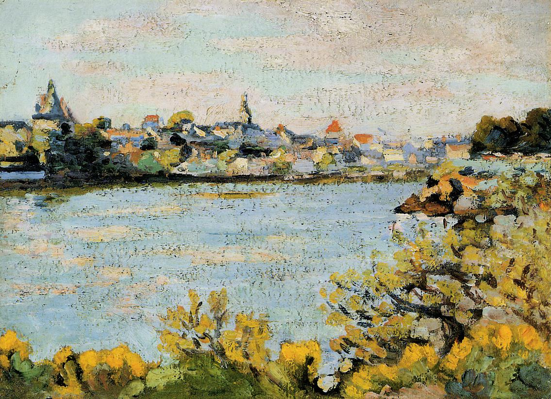 The Village of Pornic 1909 | Armand Guillaumin | oil painting