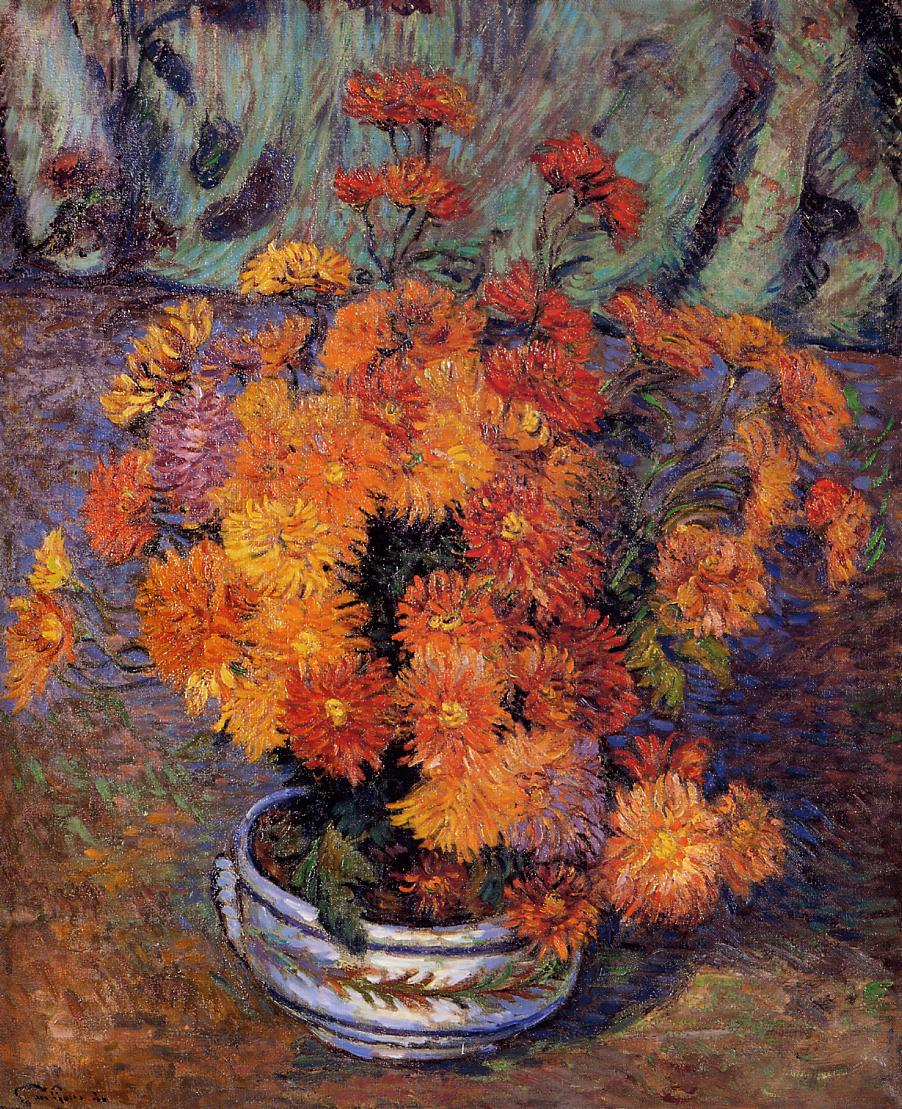 Vase of Chrysanthemums 1885 | Armand Guillaumin | oil painting