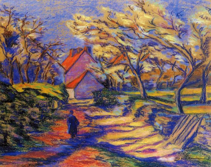 Village Street | Armand Guillaumin | oil painting