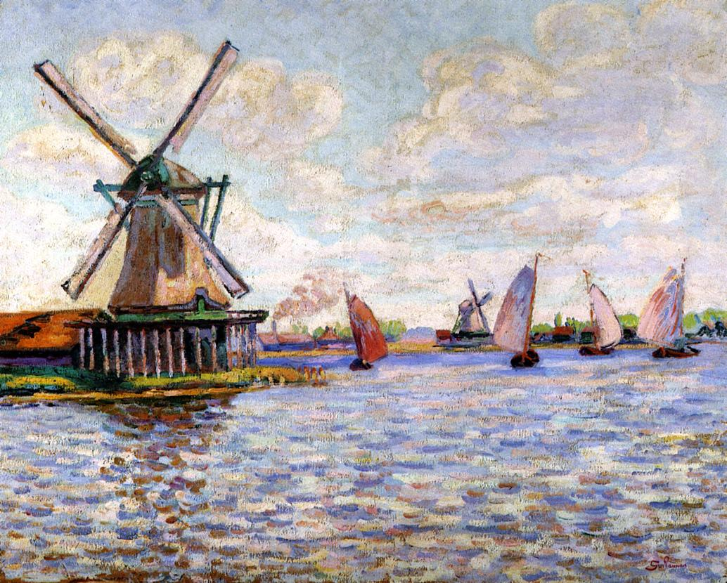 Windmills in Holland 1904 | Armand Guillaumin | oil painting