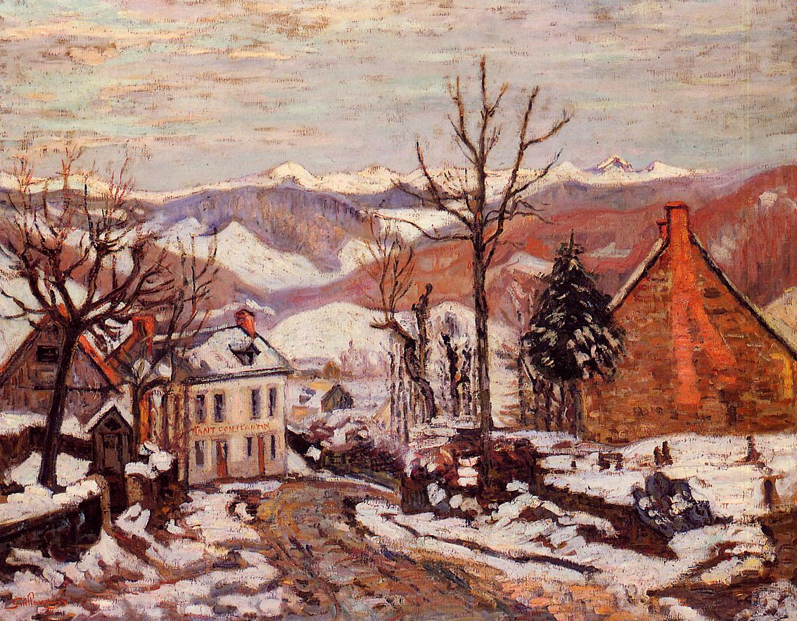Winter in Saint Sauves (aka Auvergne) 1900 | Armand Guillaumin | oil painting