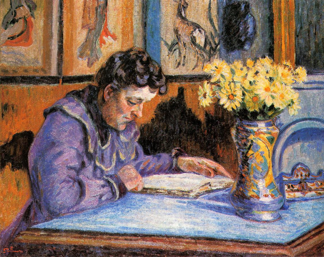 Woman Reading 1895 | Armand Guillaumin | oil painting