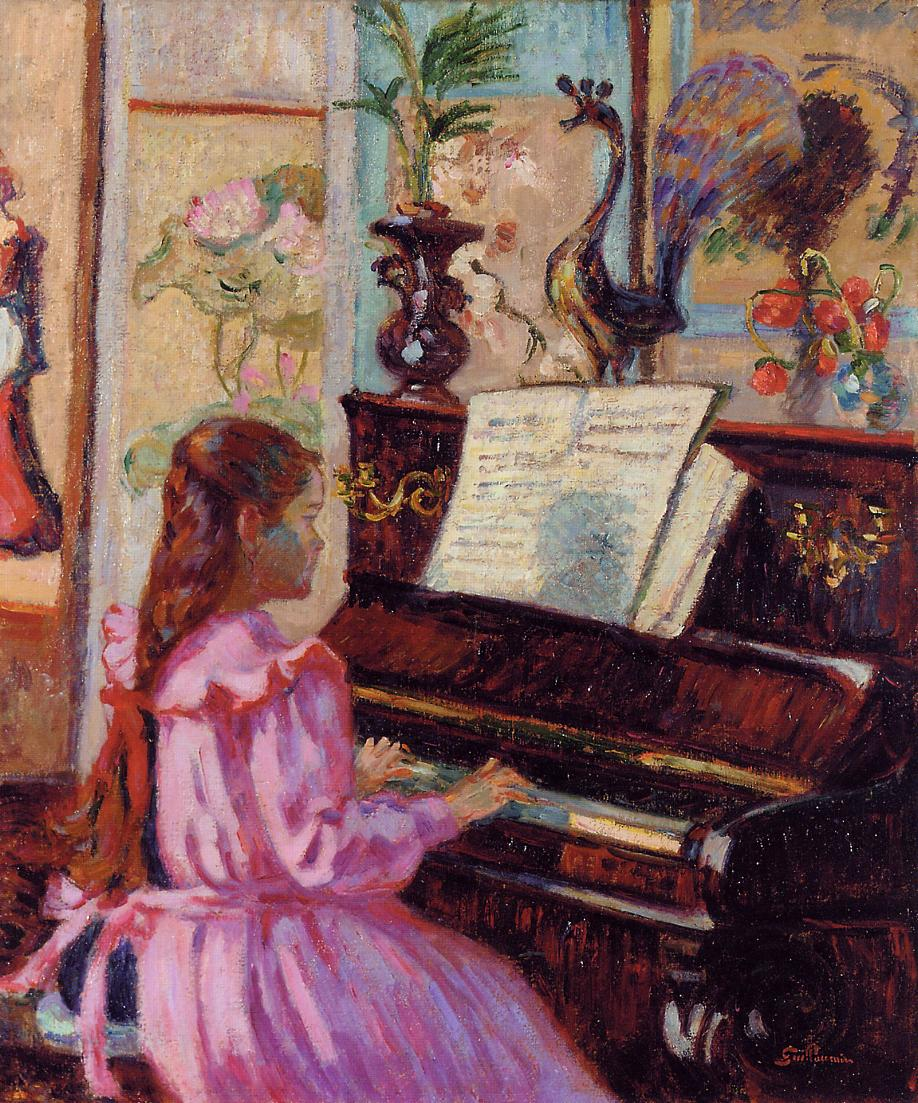 Young Girl at the Piano 1910 | Armand Guillaumin | oil painting