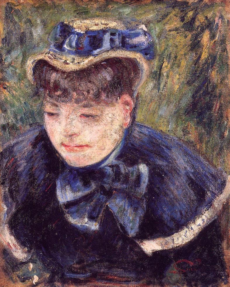 Young Woman with a Blue Cape and Scarf 1890 | Armand Guillaumin | oil painting
