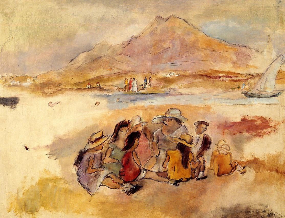At La Goulette 1924 | Jules Pascin | oil painting