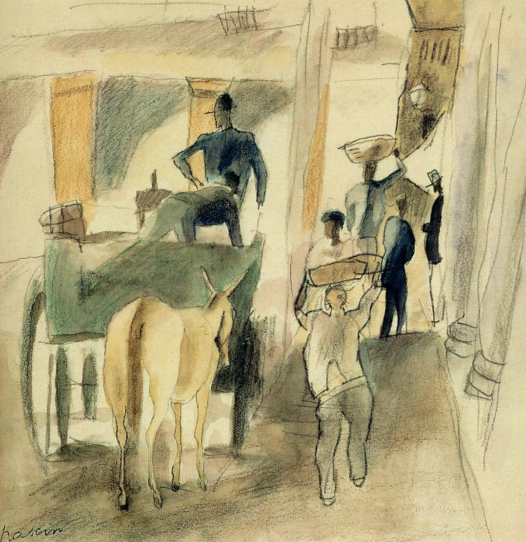 A Street in Cuba 1916 | Jules Pascin | oil painting