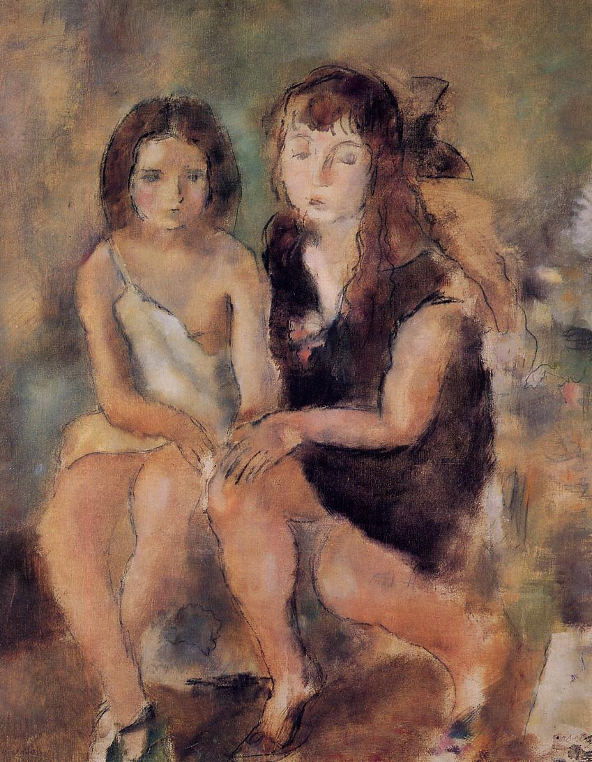 Clara and Genevieve 1925 | Jules Pascin | oil painting