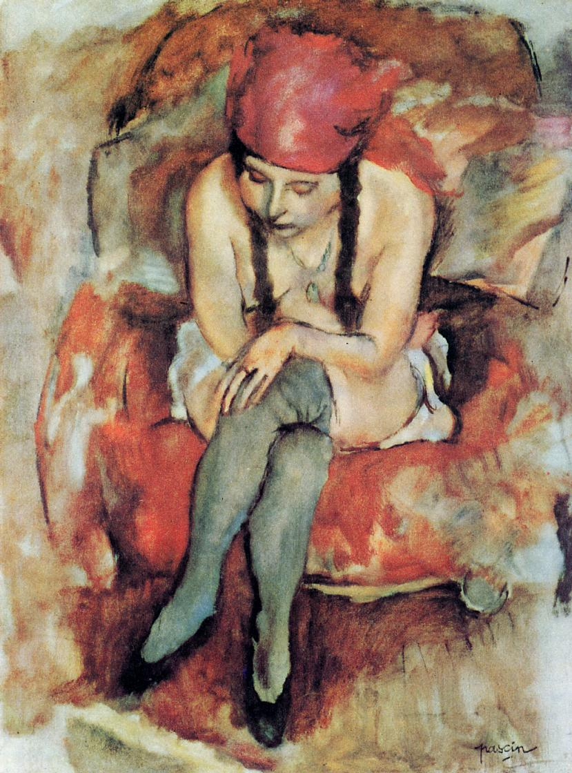 Claudine Resting 1913 | Jules Pascin | oil painting