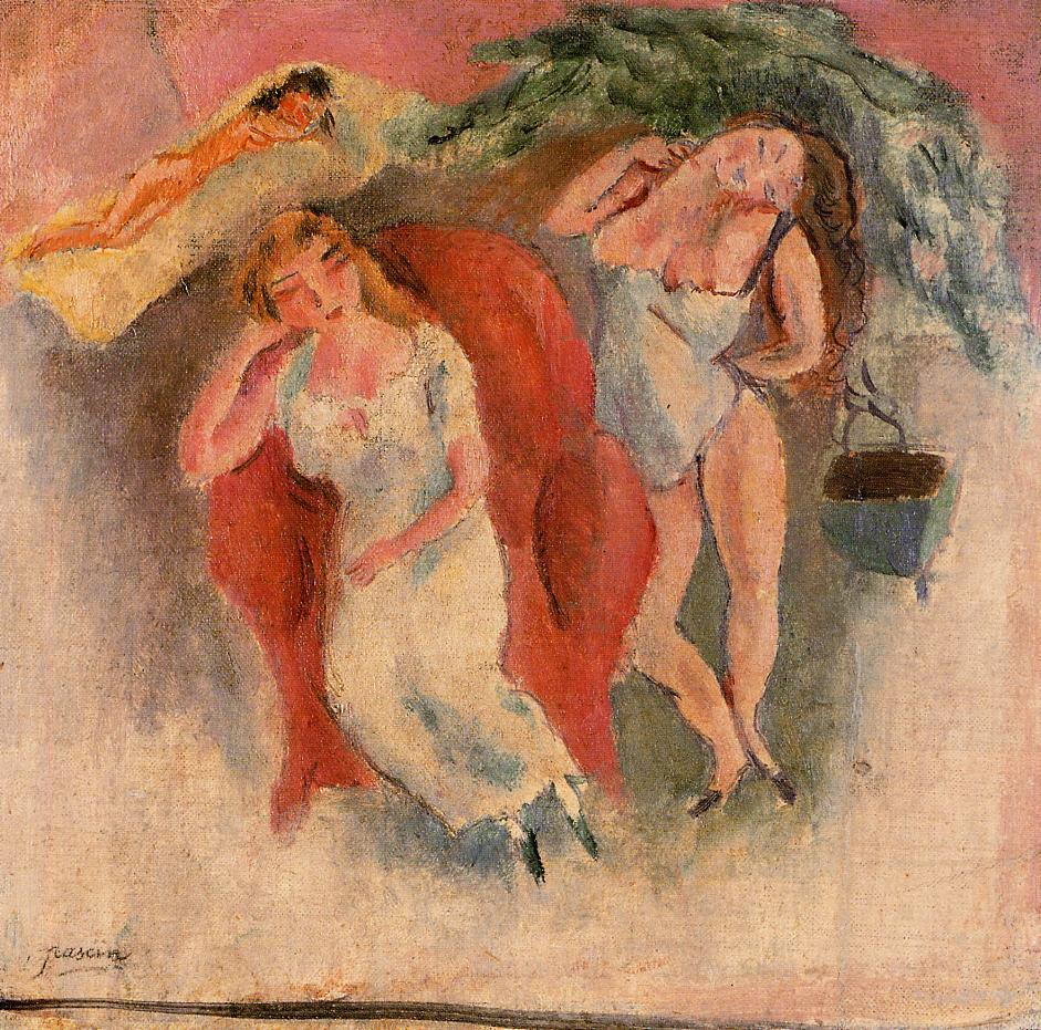 Composition with Three Women 1911 | Jules Pascin | oil painting
