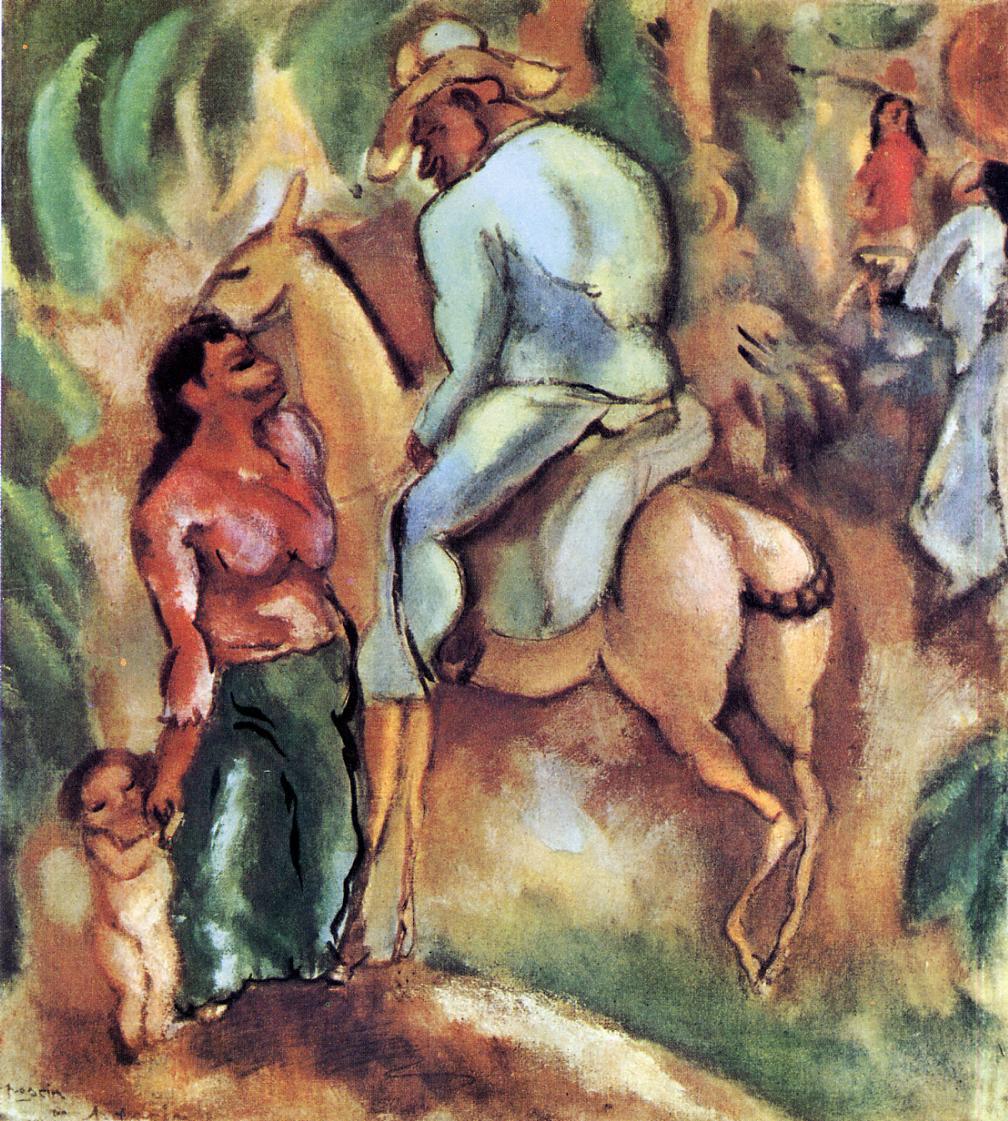 Cuban Rider 1917 | Jules Pascin | oil painting