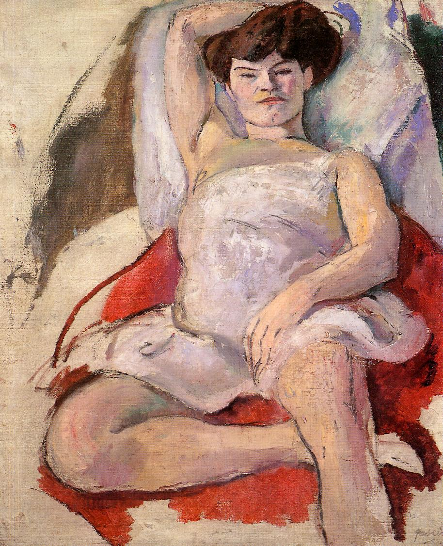 Dancer at the Moulin Rouge 1908 | Jules Pascin | oil painting