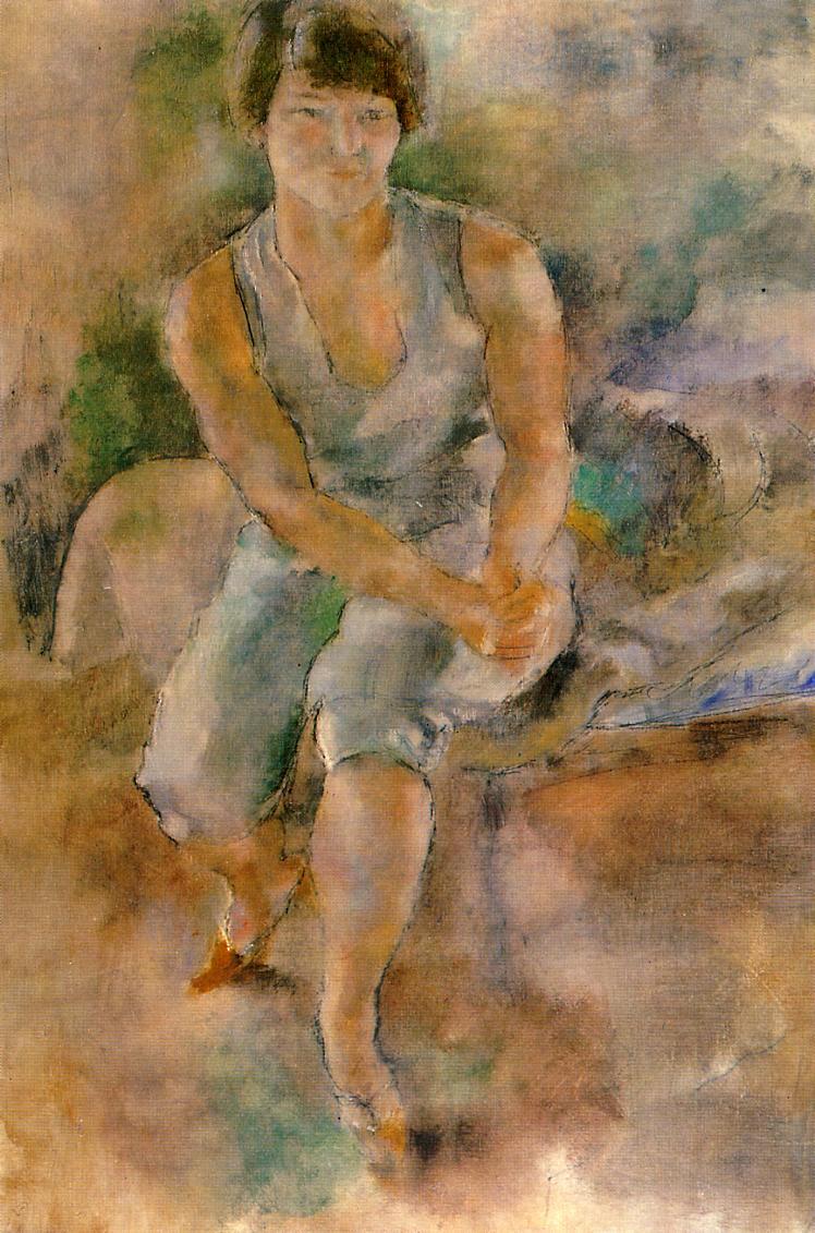 Eliena Krylenko 1927-1928 | Jules Pascin | oil painting