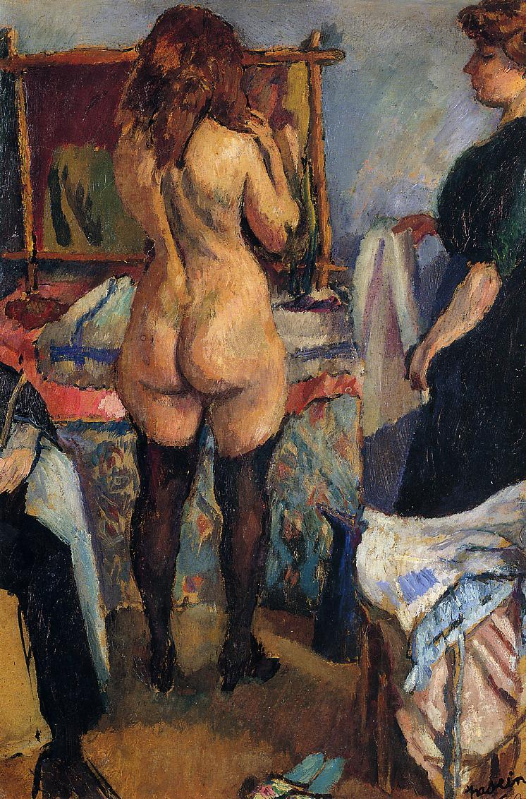 Getting Dressed 1911-1912 | Jules Pascin | oil painting