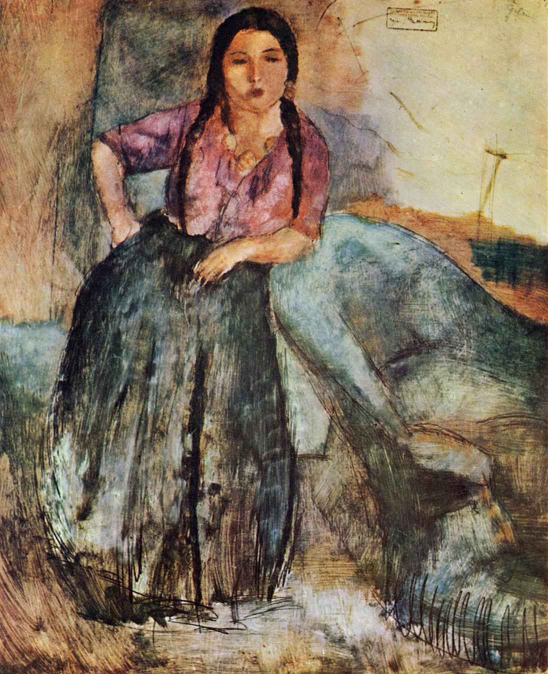 Gypsy Girl 1923 | Jules Pascin | oil painting