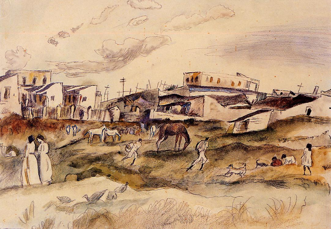 Havana Street 1917 | Jules Pascin | oil painting