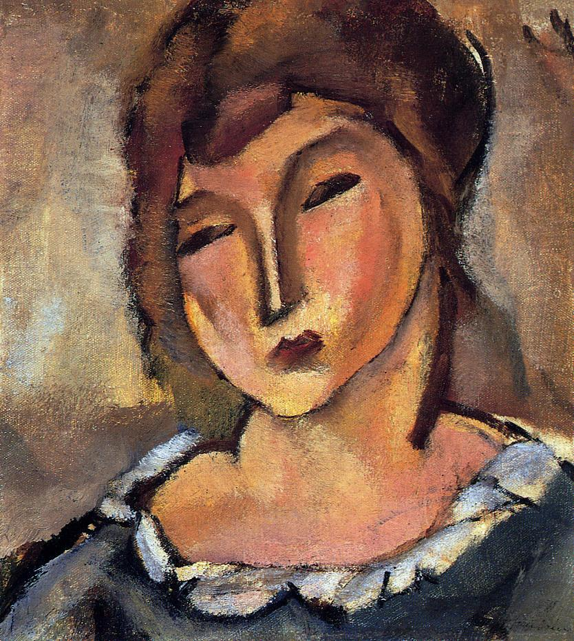 Head of a Young Woman | Jules Pascin | oil painting