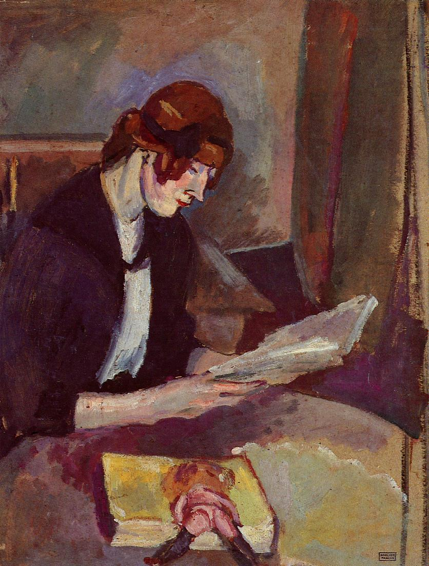 Hermine David Reading 1908 | Jules Pascin | oil painting