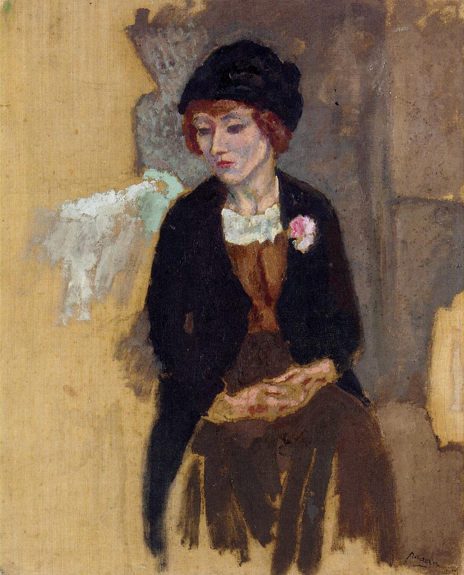 Hermine in a Black Hat 1909 | Jules Pascin | oil painting