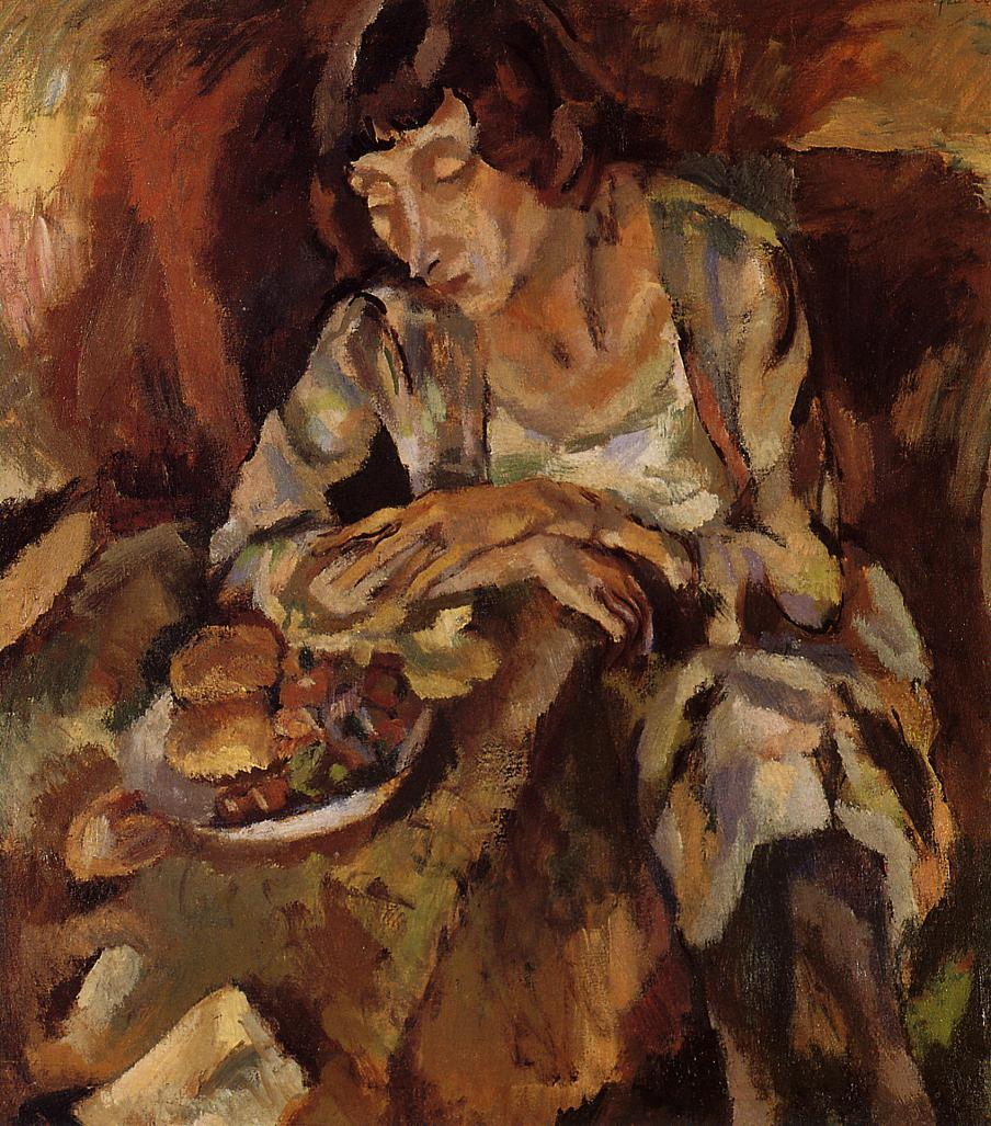 Hermine with Fruit 1919 | Jules Pascin | oil painting