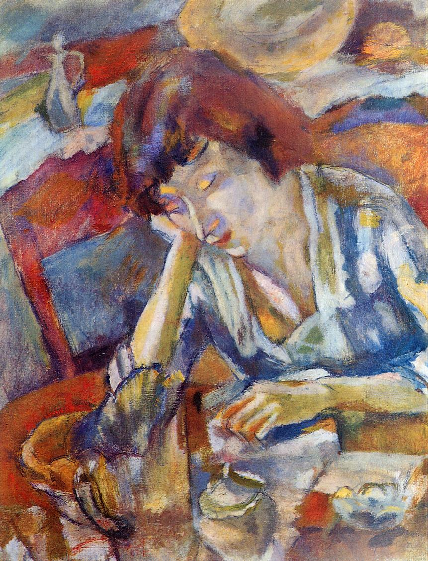 Hermine 1919 | Jules Pascin | oil painting