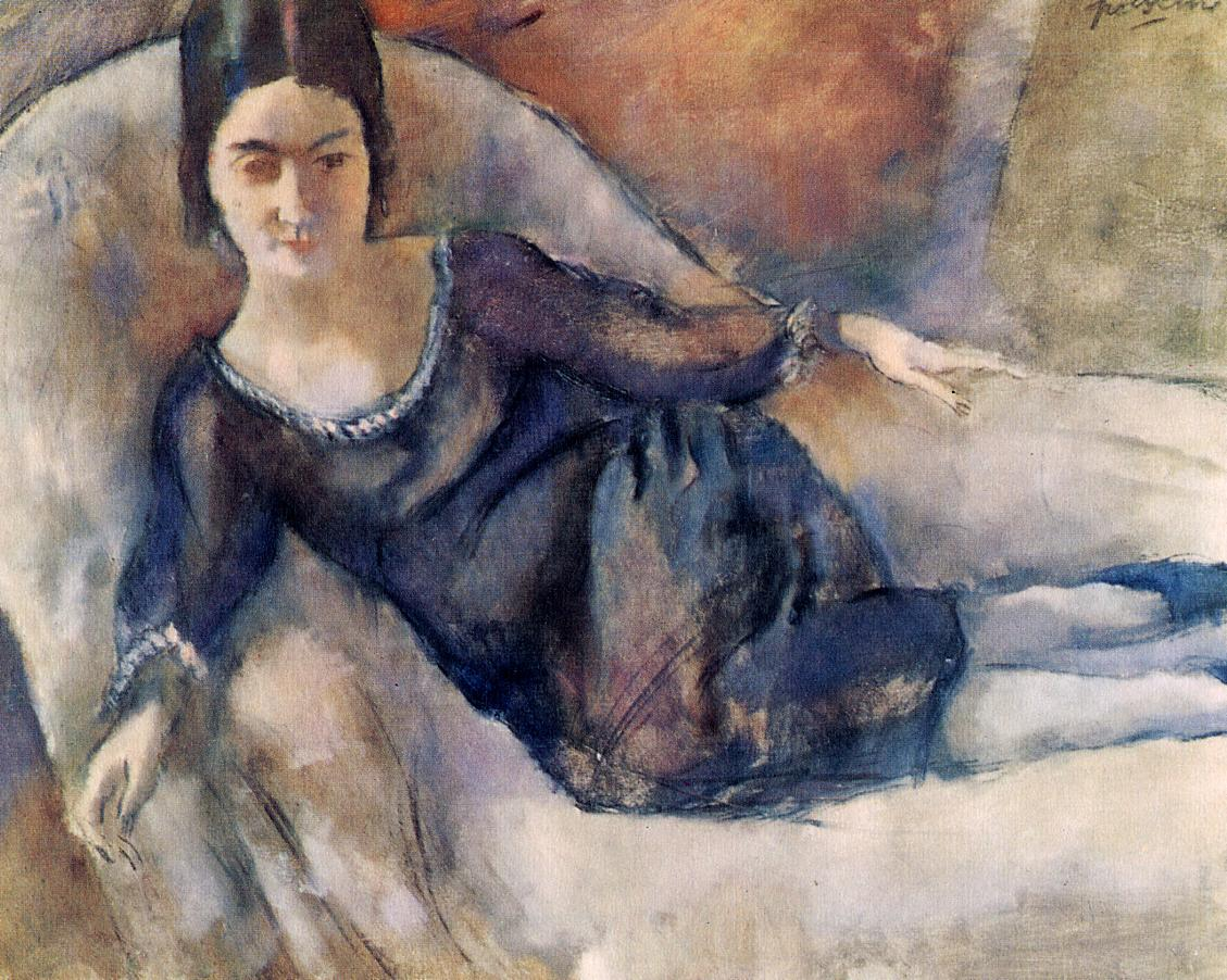 Lady on a Sofa 1925 | Jules Pascin | oil painting