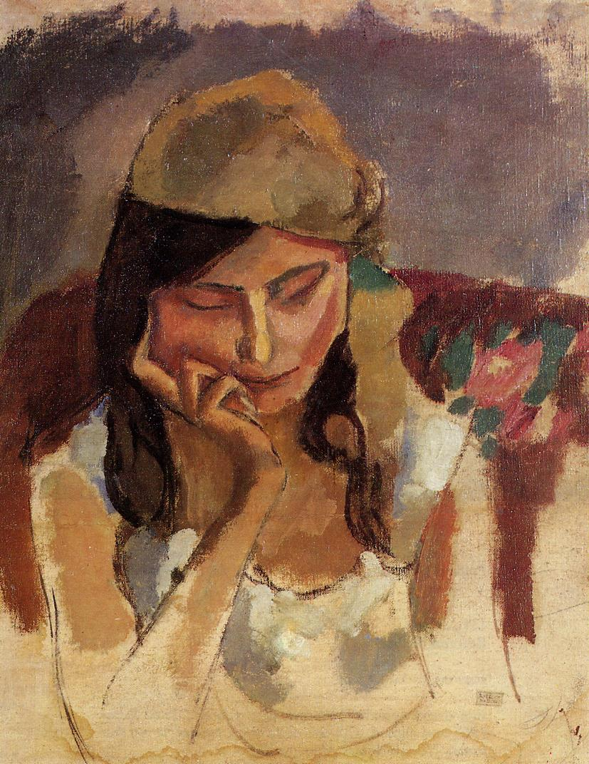 Lady Wearing a Turban 1907 | Jules Pascin | oil painting