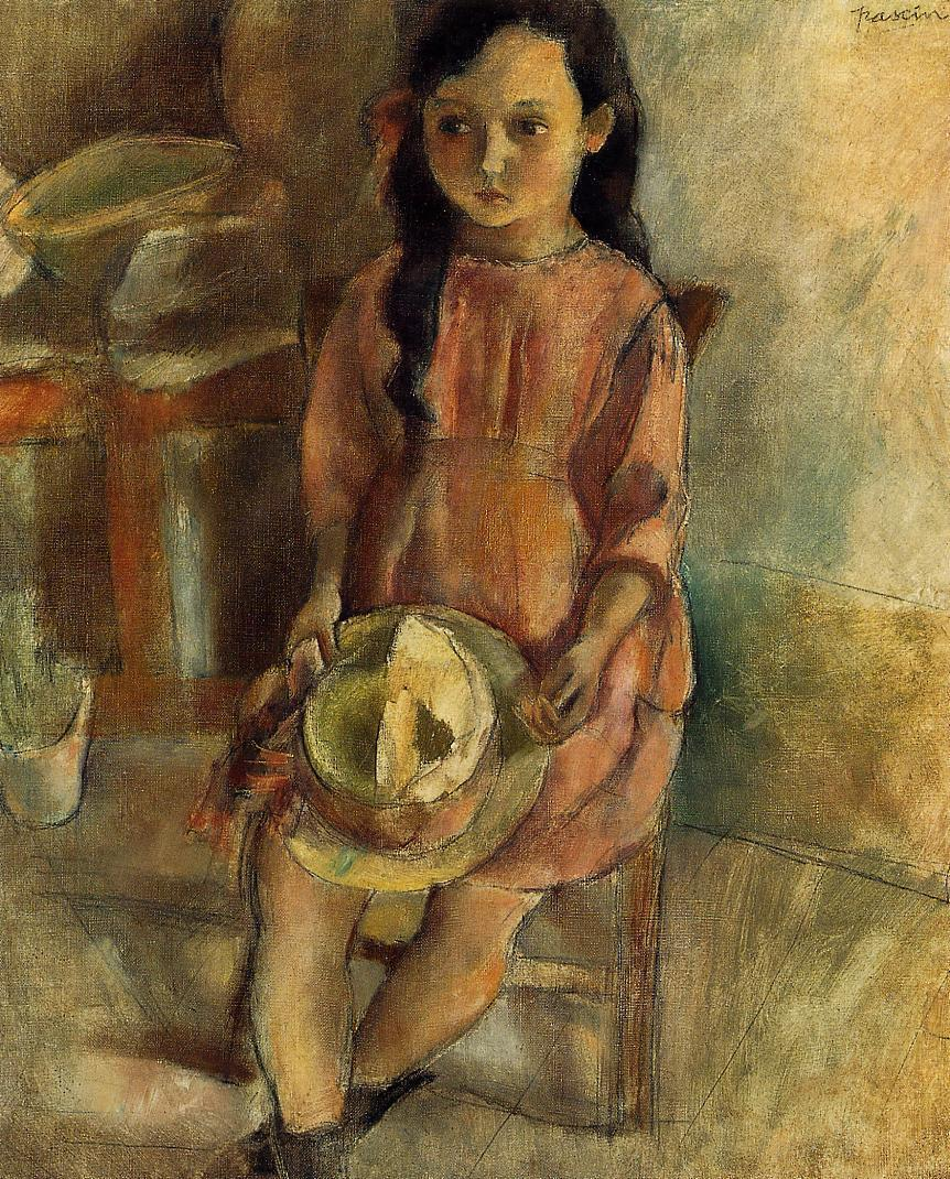 Little Girl with a Hat 1924 | Jules Pascin | oil painting