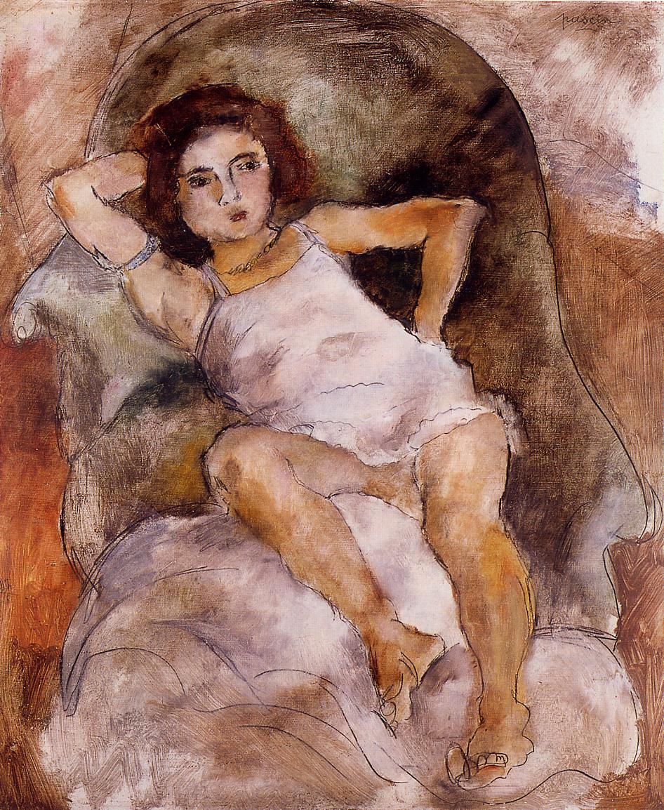 Little Lysis2 1925 | Jules Pascin | oil painting
