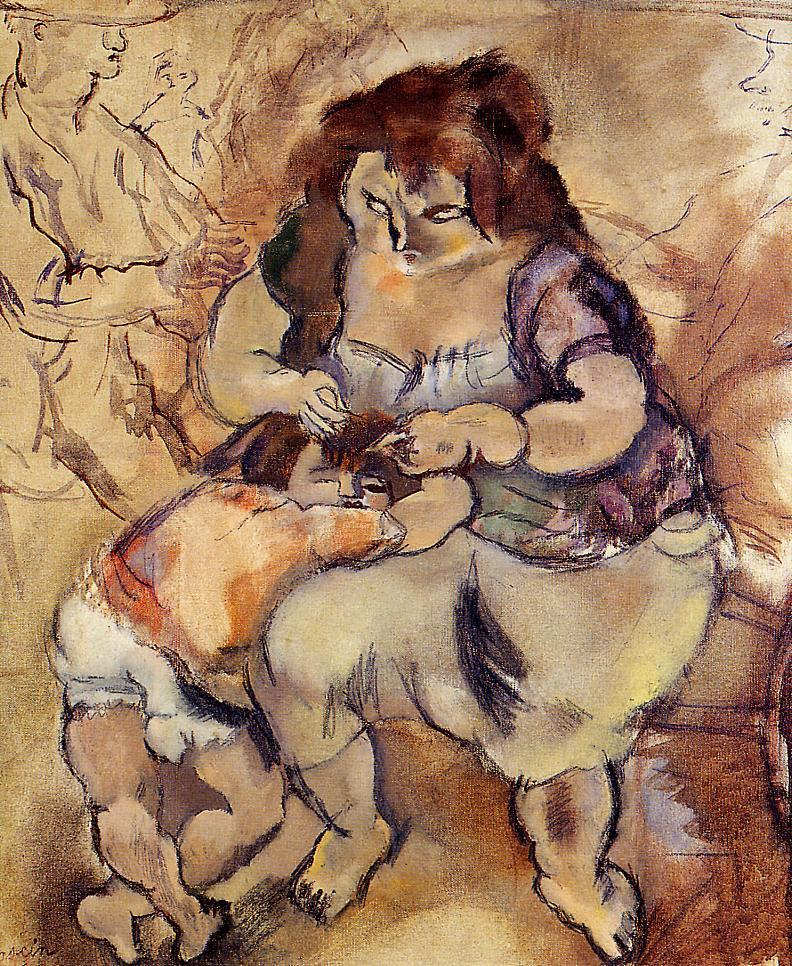 Looking for Lice 1924 | Jules Pascin | oil painting