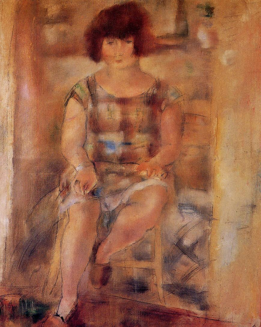 Ludy after Shampooing 1926 | Jules Pascin | oil painting
