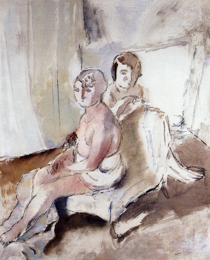 Margot and Madeleine | Jules Pascin | oil painting