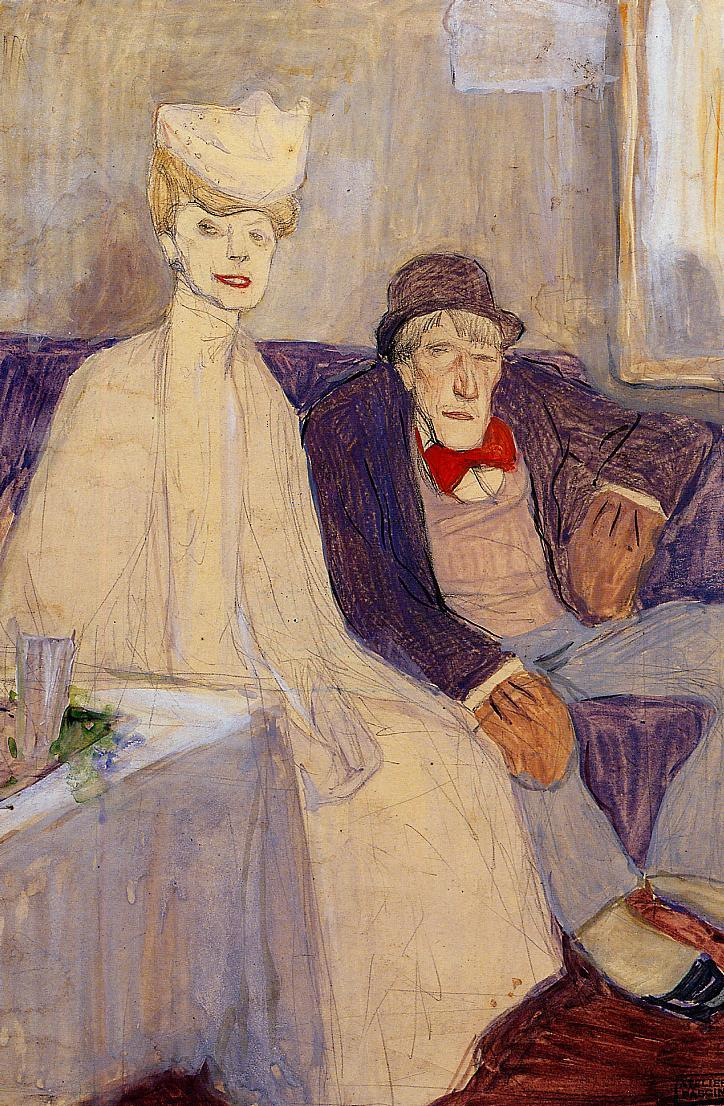 Odd Couple in a Waiting Room 1907-1908 | Jules Pascin | oil painting