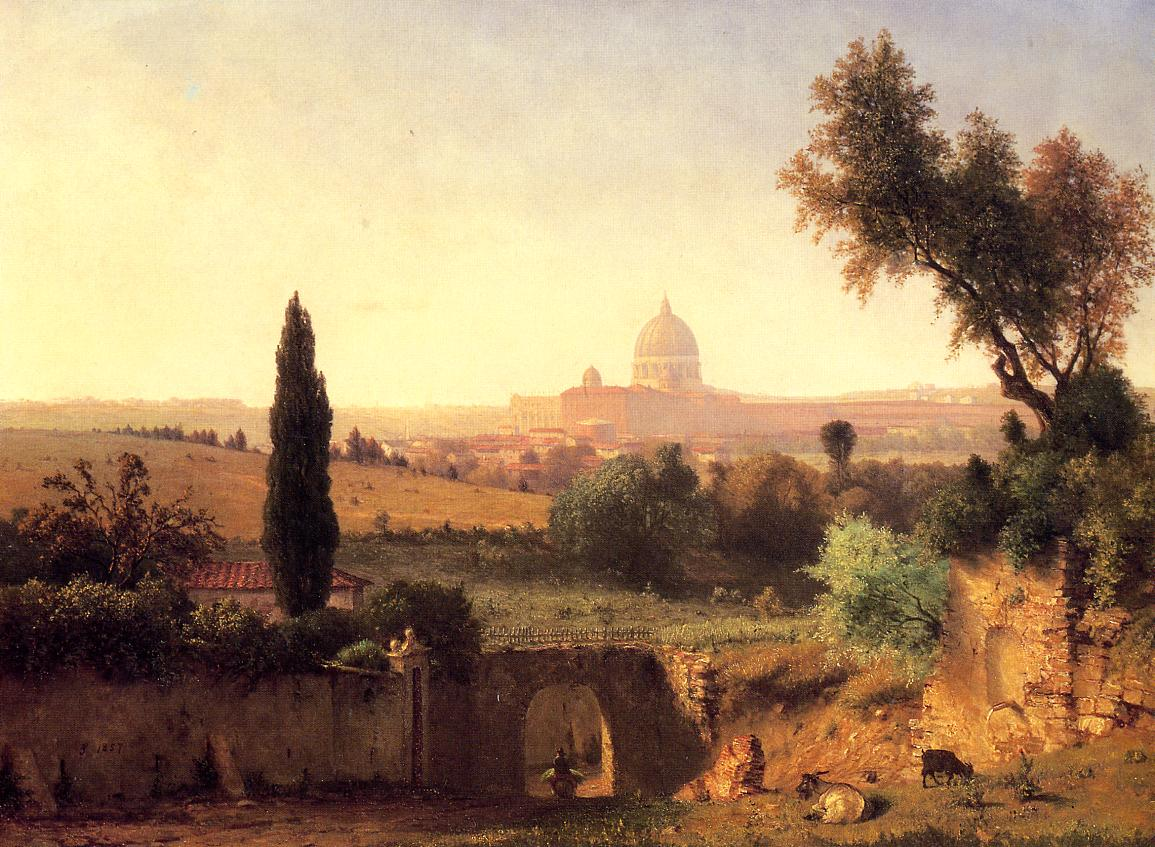 St. Peter's Rome 1857 | George Inness | oil painting