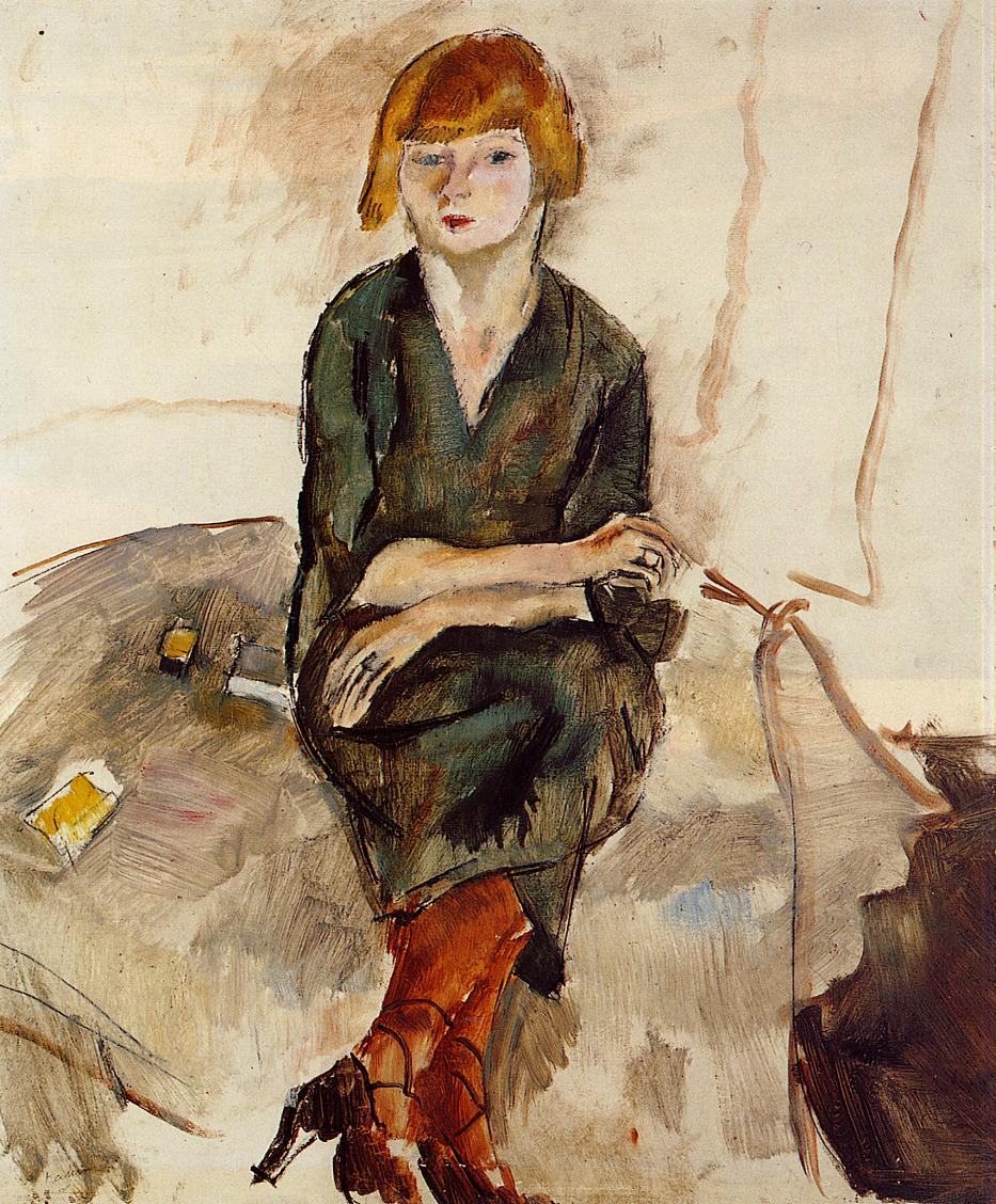 Young English Woman 1926 | Jules Pascin | oil painting