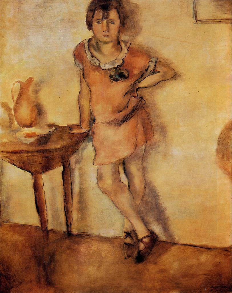 Young Girl in a Dress | Jules Pascin | oil painting