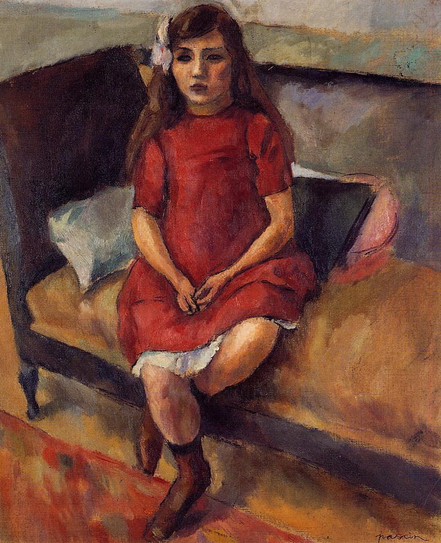 Young Girl in Red 1911-1912 | Jules Pascin | oil painting
