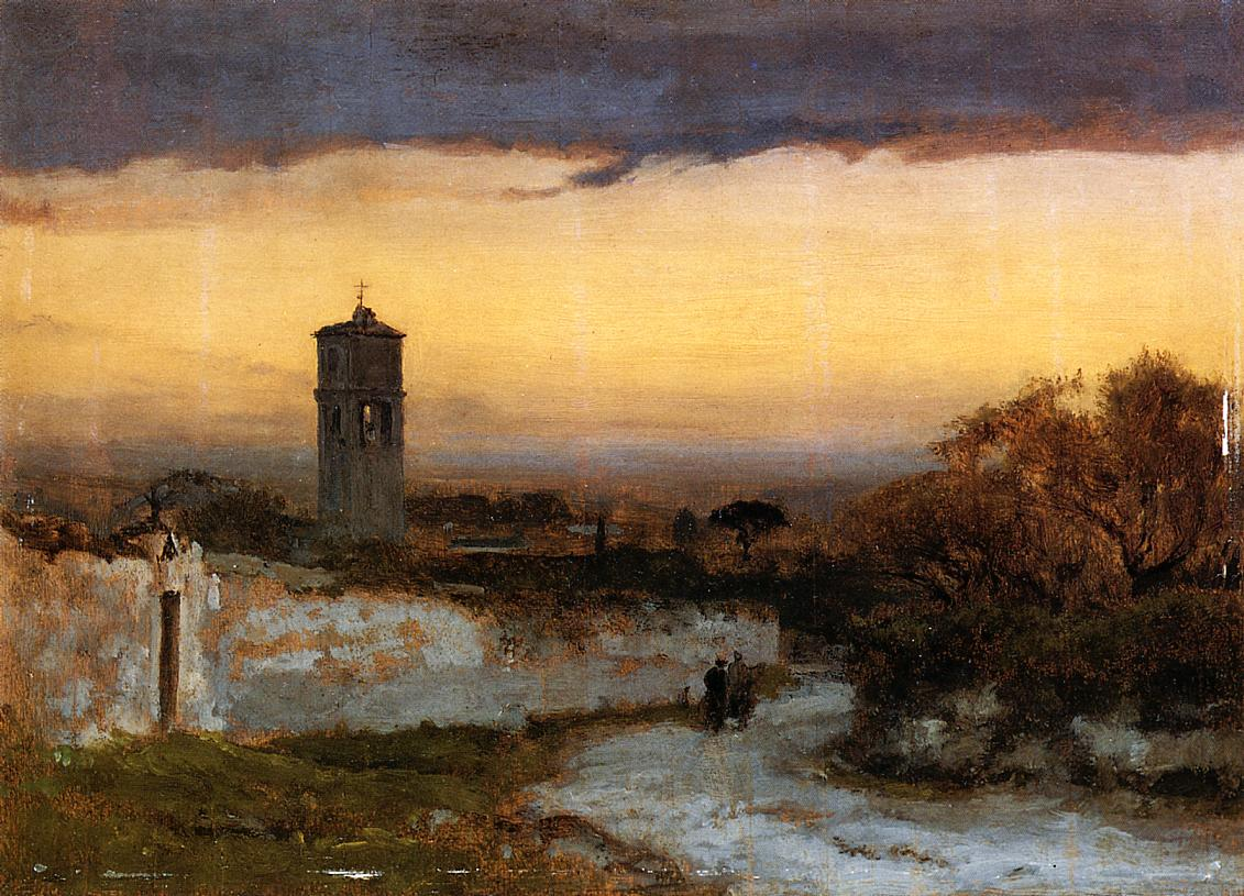 Monastery at Albano 1875 | George Inness | oil painting