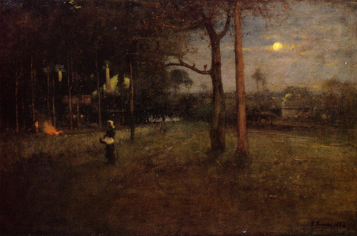 Moonlight Tarpon Springs Florida 1892 | George Inness | oil painting