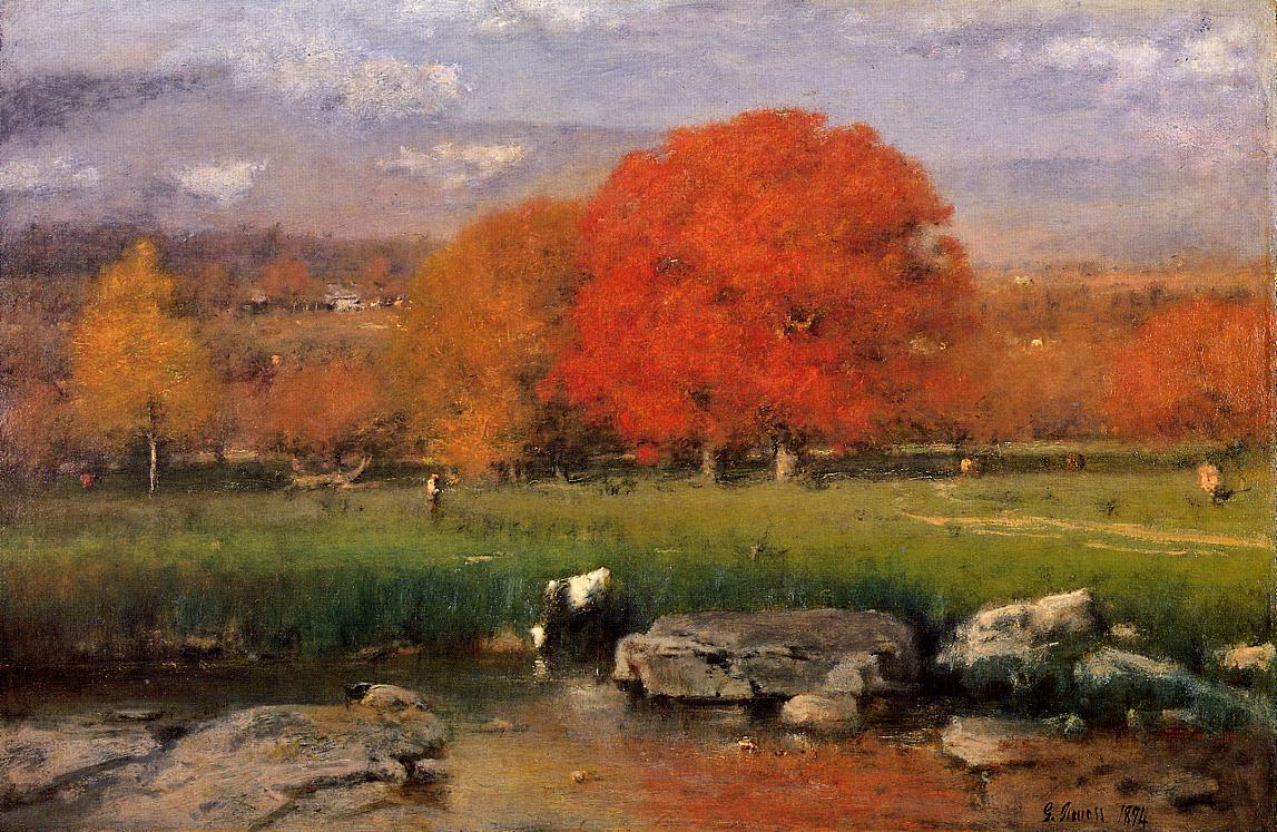 Morning Catskill Valley 1894 | George Inness | oil painting