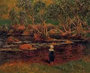 A Ford Pont-Aven River 1899 | Henri Moret | oil painting