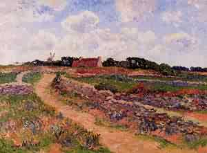 A Path in Cholars Finistere 1901 | Henri Moret | oil painting