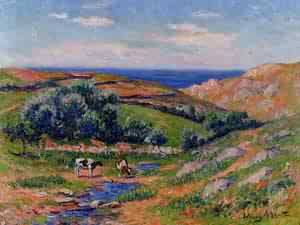 A Valley in Sadaine the Bay of Douarnenez 1911-1912 | Henri Moret | oil painting