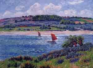 Balon River Fnistere 1908 | Henri Moret | oil painting