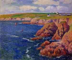 Beg-er-Vran - Finistere 1897   Henri Moret   oil painting