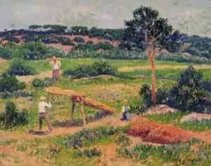 Bretons Working with Wood 1911 | Henri Moret | oil painting