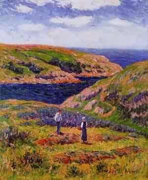 Cliffs at Clohars Carnoet 1910 | Henri Moret | oil painting