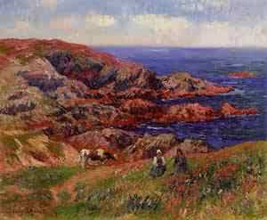 Cliffs at Kerserol Finistere 1909 | Henri Moret | oil painting