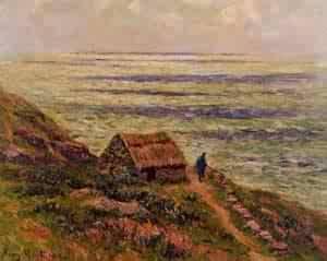 Cliffs of Jaboure 1912 | Henri Moret | oil painting