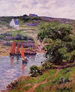 Dolain Finistere 1910 | Henri Moret | oil painting