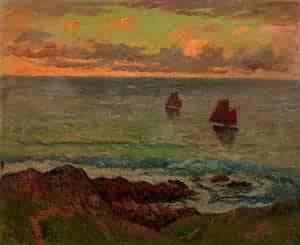Evening at Doelan 1895 | Henri Moret | oil painting